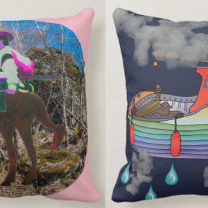 horse boat cushion
